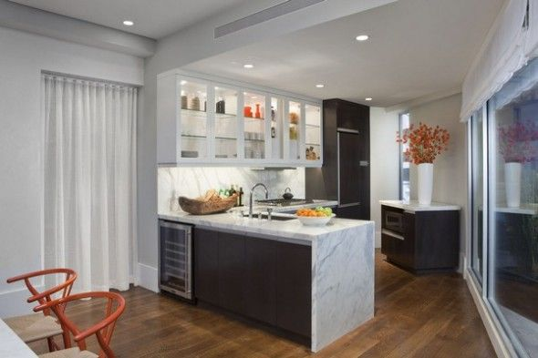 Modern Small Apartment Kitchen With Dining Area