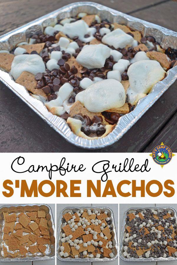 S'mores Nachos Camping Recipe Made Over the Campfire
