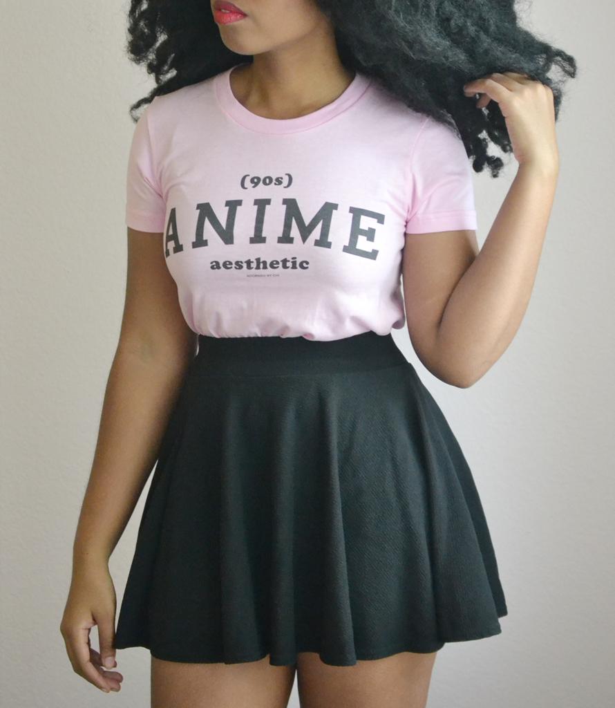 """""""90s Anime Aesthetic"""" Athletic Inspired Short sleeve women"""