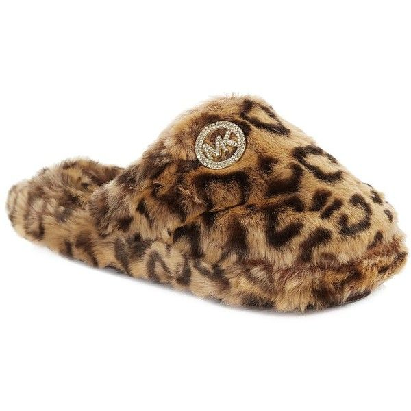 833c0f326546e Women s Michael Michael Kors Cheetah Faux Fur Slippers Leopard 11 ( 22) ❤  liked on Polyvore featuring shoes