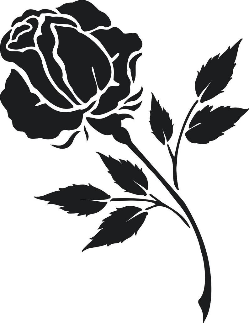 Blooming Rose Stem Flat Icon Flower Ad Ad Aff Stem Flower Icon Rose Flat Icon Rose Stem Blooming Rose