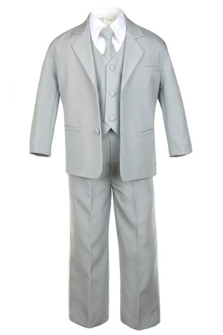 $42 Gabe? Amazon.com: Formal Boy Light Grey Suit From Baby to Teen ...