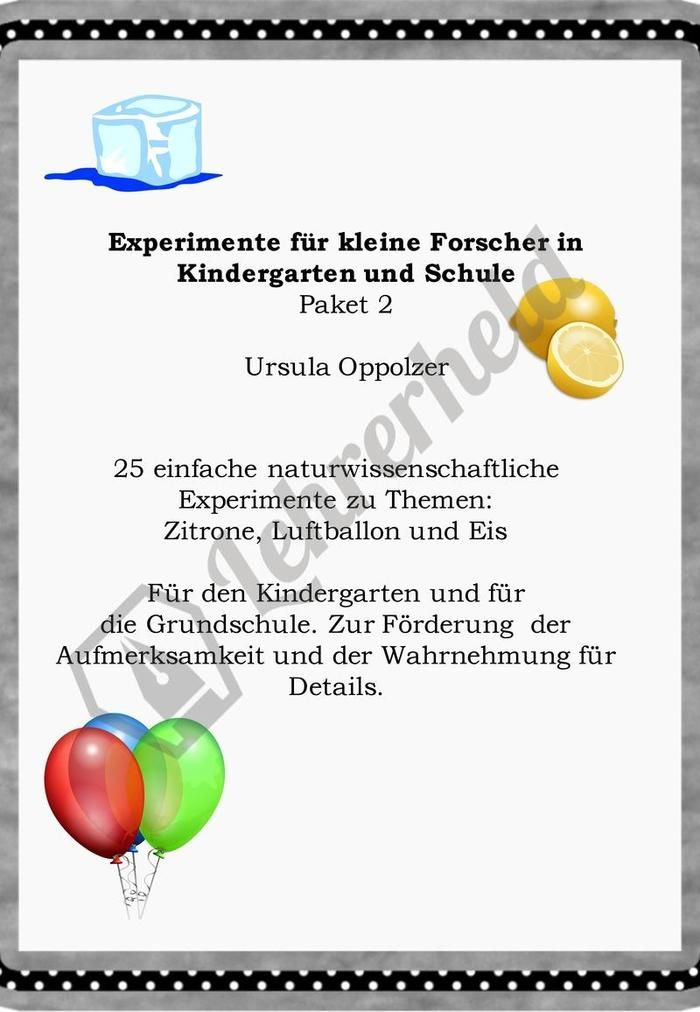 Diese 25 Experimente für den Kindergarten und für die Grundschule ...