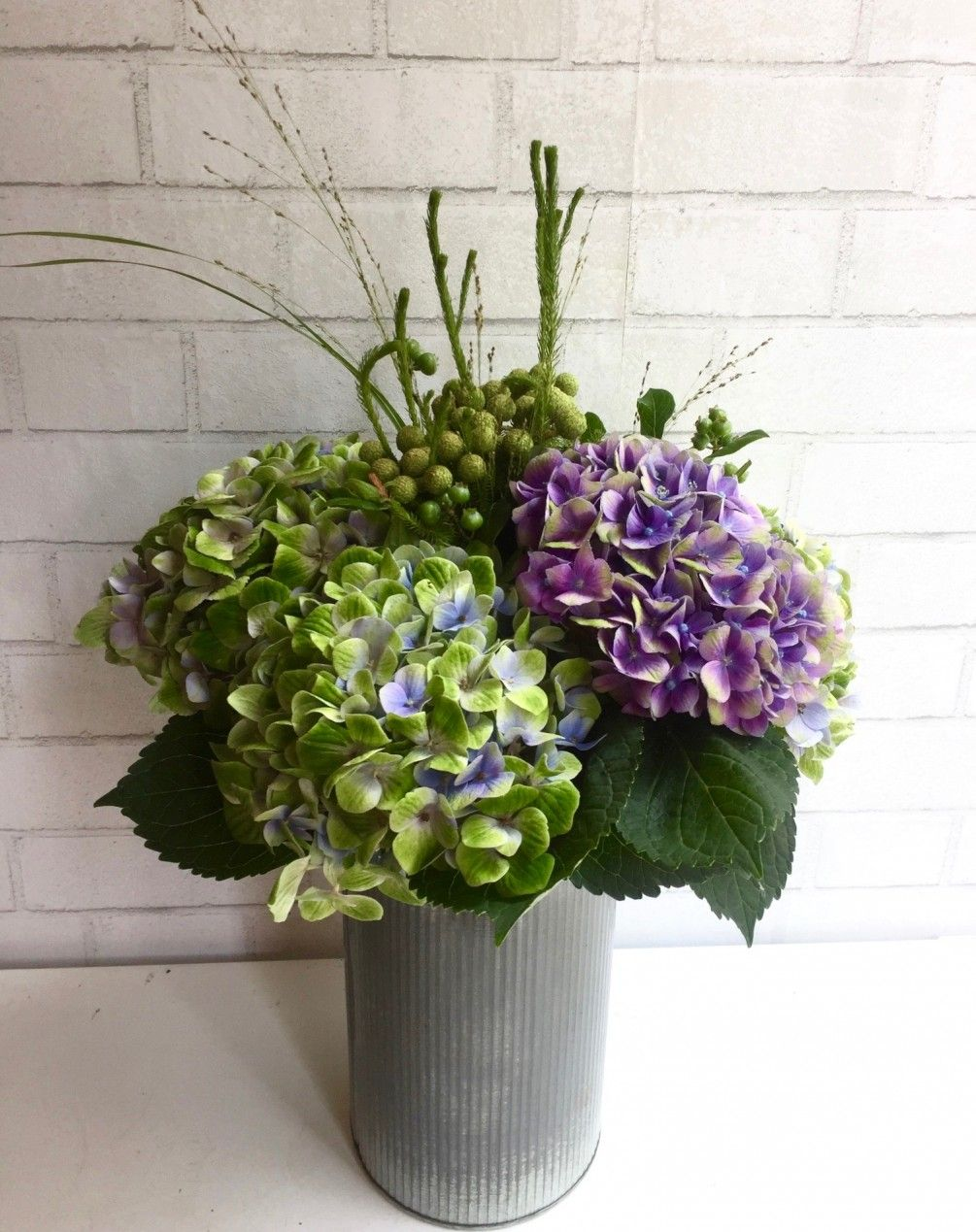 Hydrangea and season flowers in tall vase 16 20 inches tall hydrangea and season flowers in tall vase 16 20 inches tall izmirmasajfo