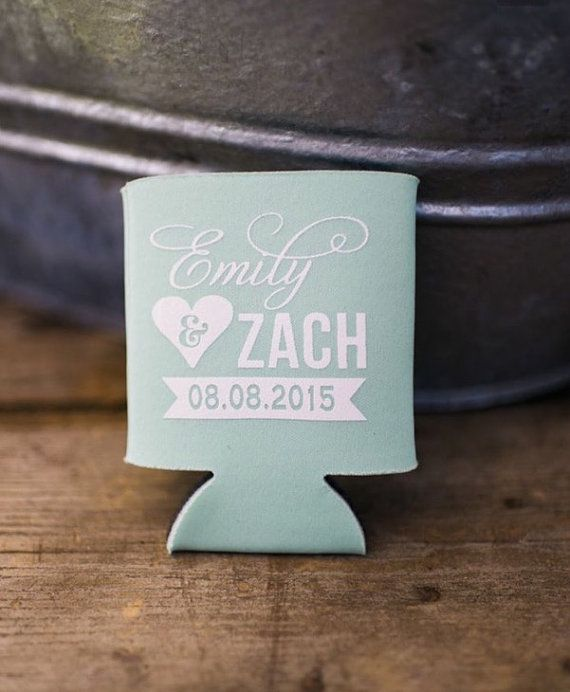 Weddings Favors State Wedding Mint Green Wedding Gift Texas Wedding Anniversary Shower Party Favor Can Coolers Wedding Gifts 1101 by SipHipHooray
