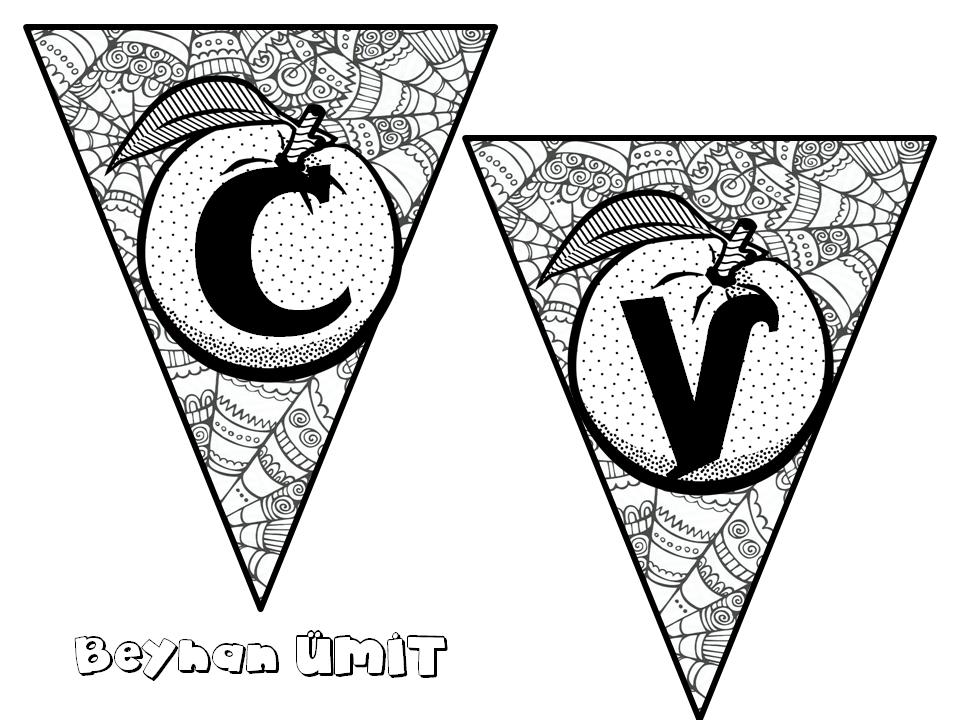 C Vitamini Boyama Sayfalari 3d Boyama Banner