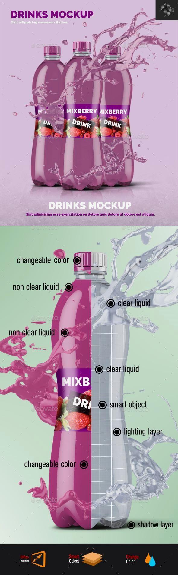 Download Clear Plastic Bottle Mockup Shape 8 | Bottle mockup, Clear ... Free Mockups
