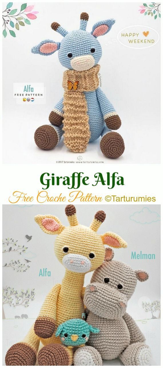 Amigurumi Giraffe Toy Free Crochet Patterns #crochetamigurumifreepatterns