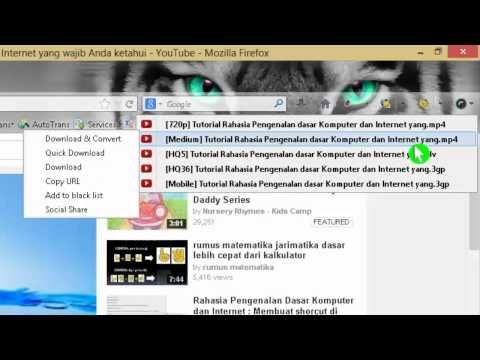 Cara menggunakan video download helper, untuk mendownload