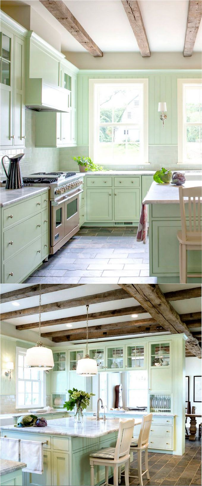 25 Gorgeous Paint Colors for Kitchen Cabinets (and beyond ...