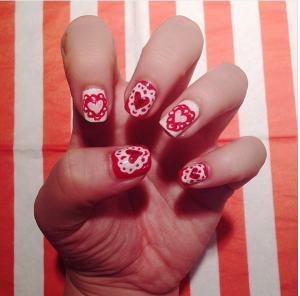 Valentines day nail art design 2014 valentines day nail art valentines day nail art design 2014 prinsesfo Choice Image