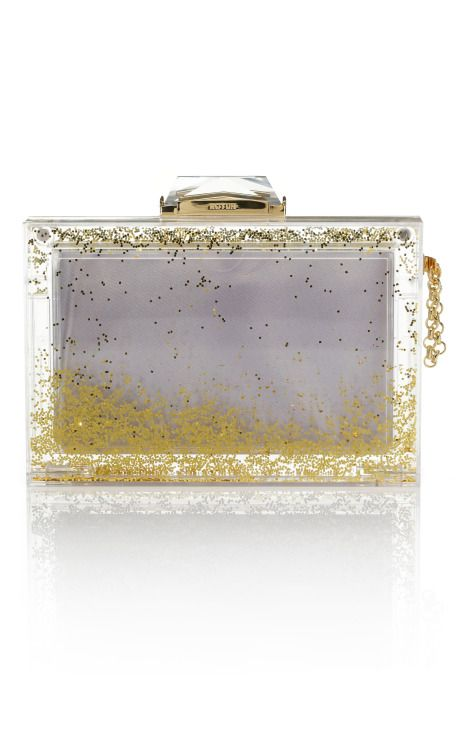 Gold snow globe clutch? Uh, yes please!