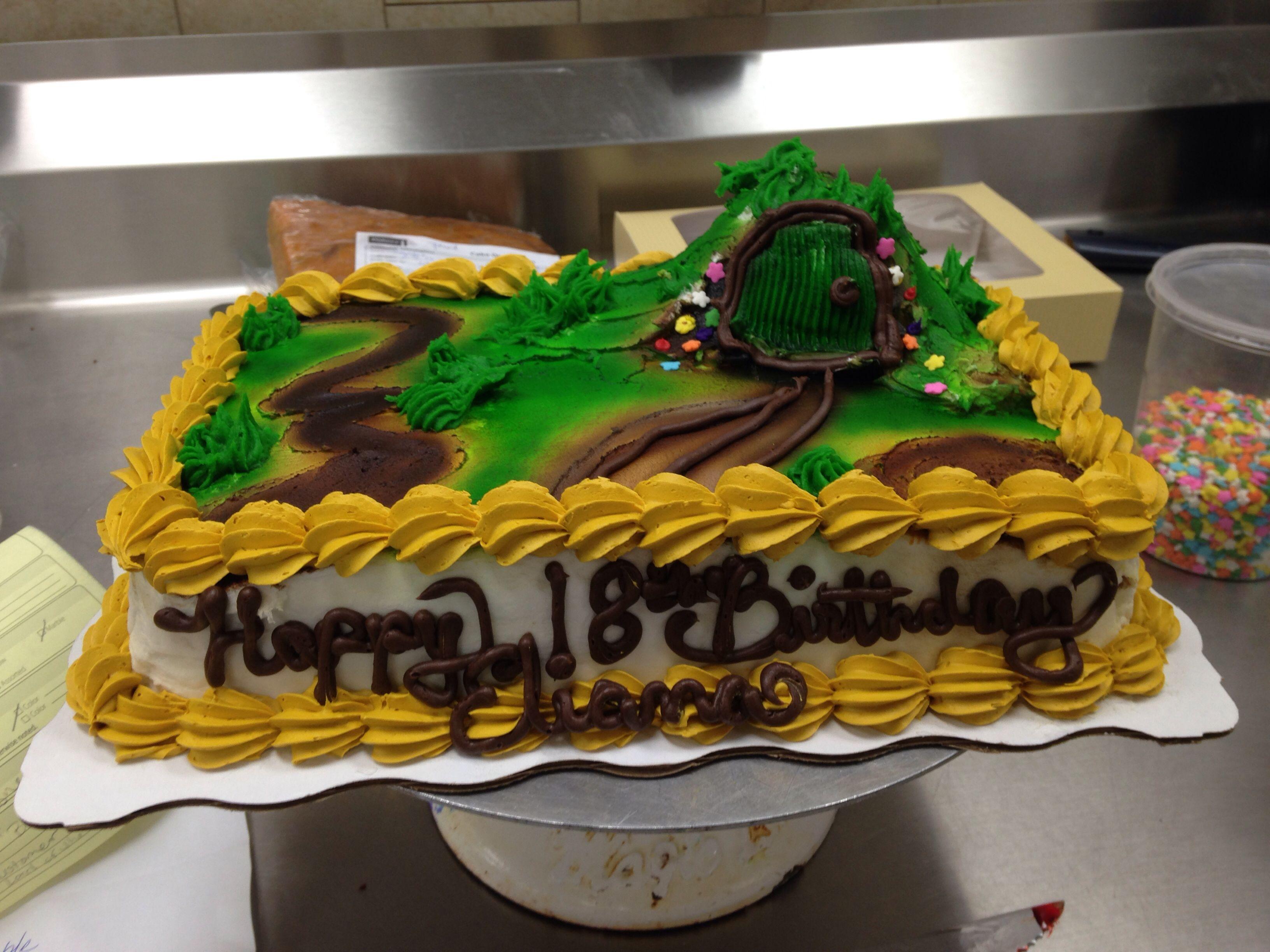 Walmart cake. Custom order. The hobbit cake. Garden cake. Walmart ...