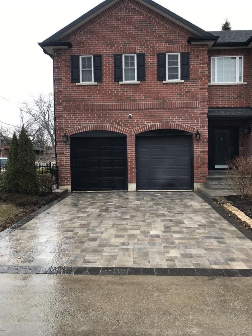 Interlocking Driveway Ideas Along With Natural Stone Steps And