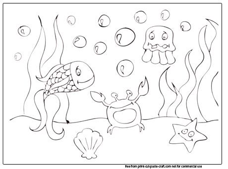 Sea Scene Coloring Pages | Preschool - Ocean Crafts | Pinterest
