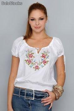 4c4ed60e90 Resultado de imagem para tela bordada blusas
