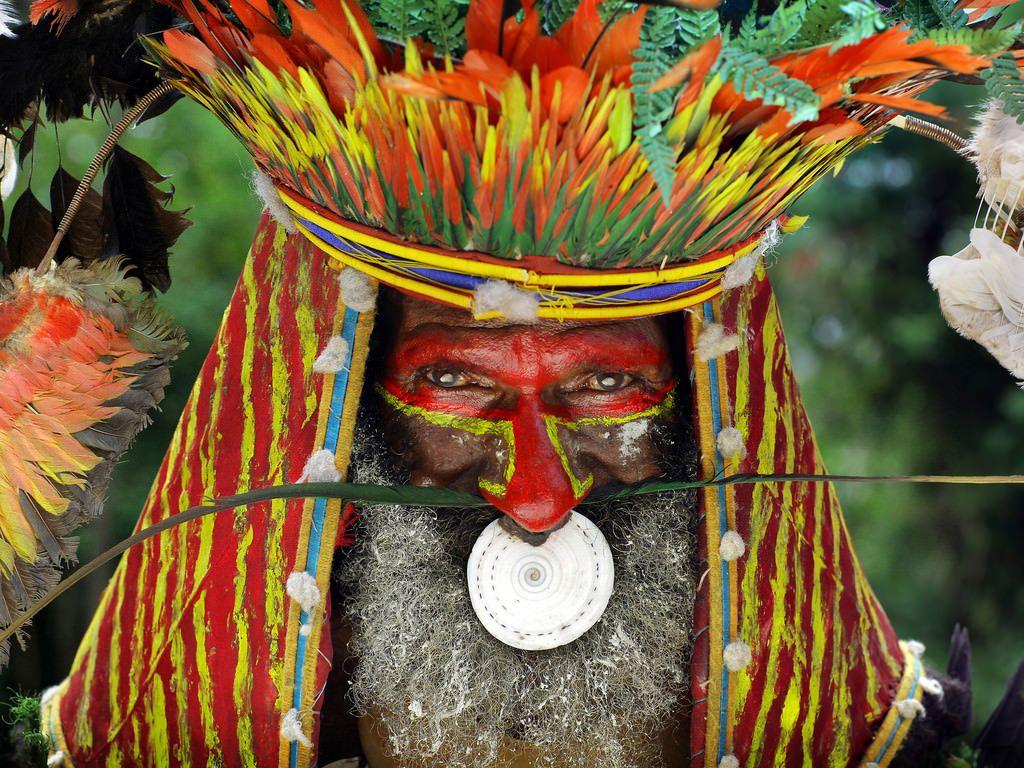 Papua New Guinea schwarze Menschen