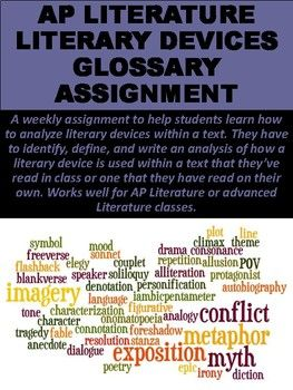 Ap Literature Literary Devices Glossary Assignment Ap Literature