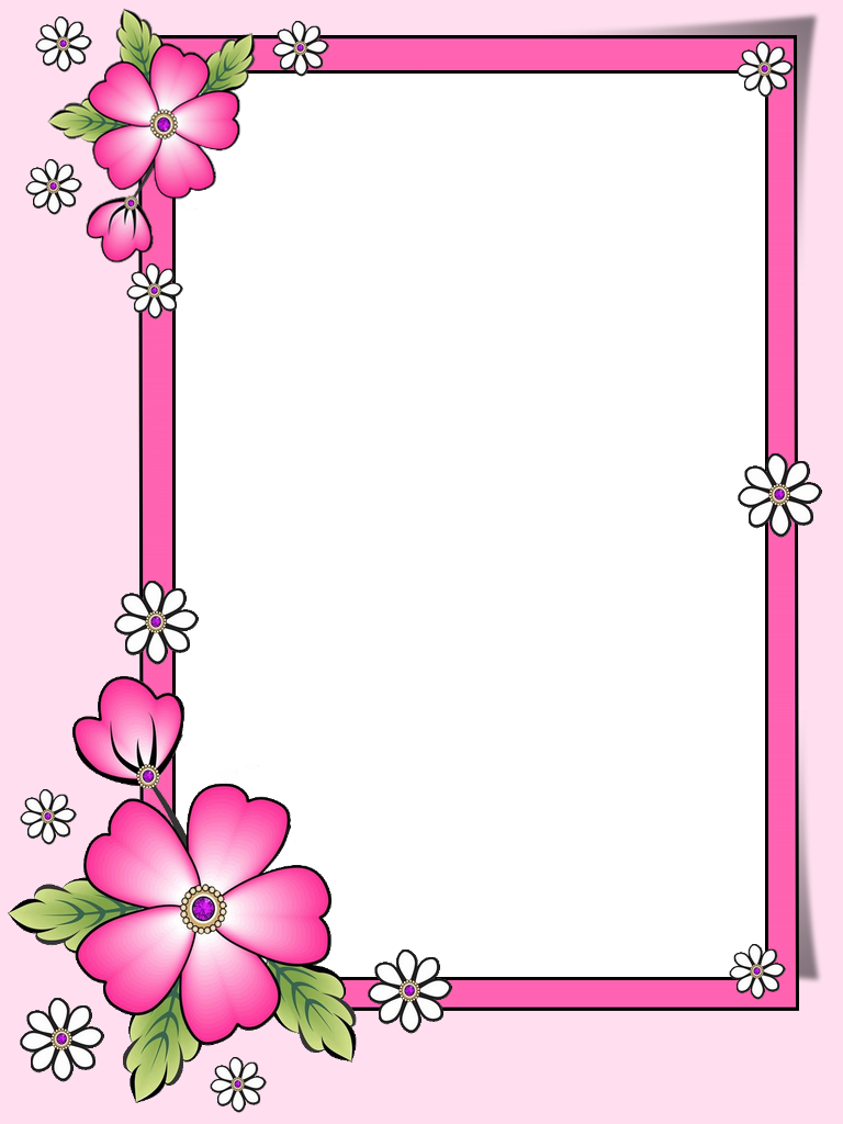 Frame Png Frame Border Design Colorful Borders Design Floral Border Design