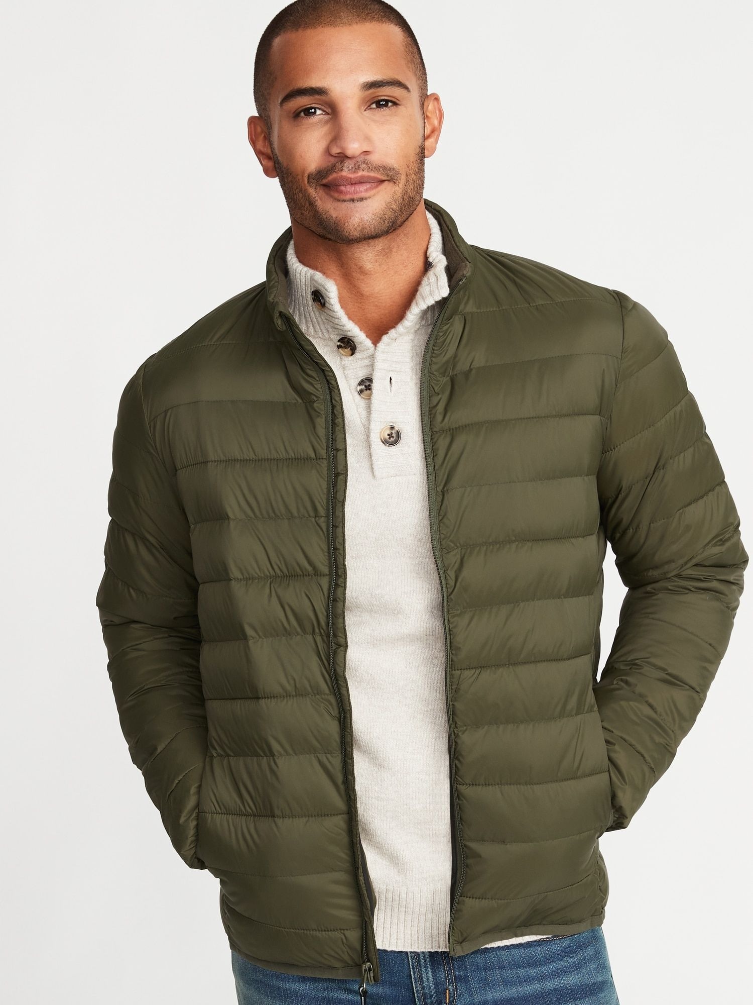 a16a61060a48 Water-Resistant Packable Quilted Jacket for Men