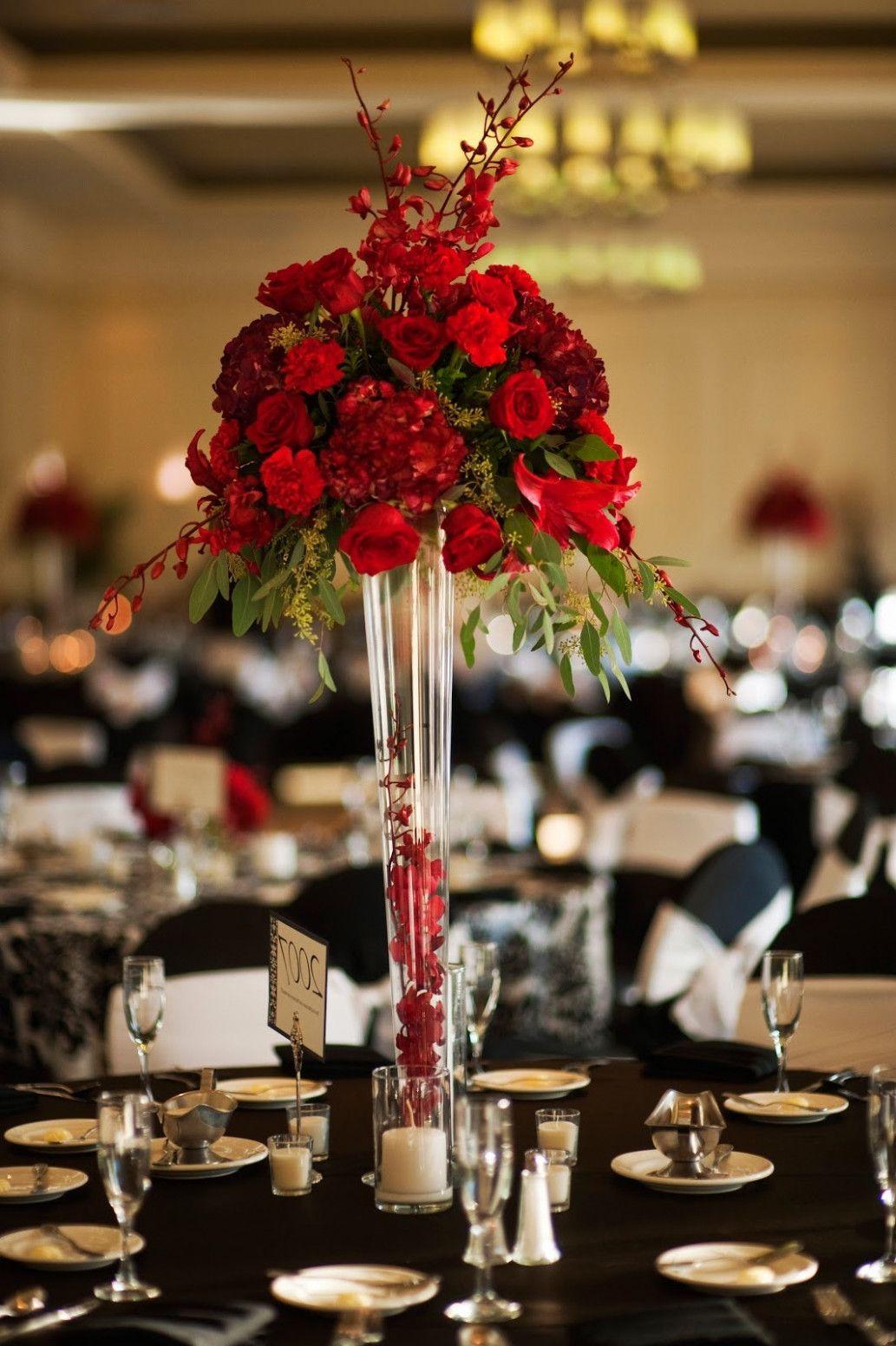 15 Romantic Red Wedding Centerpieces Ideas 19319 Centerpieces