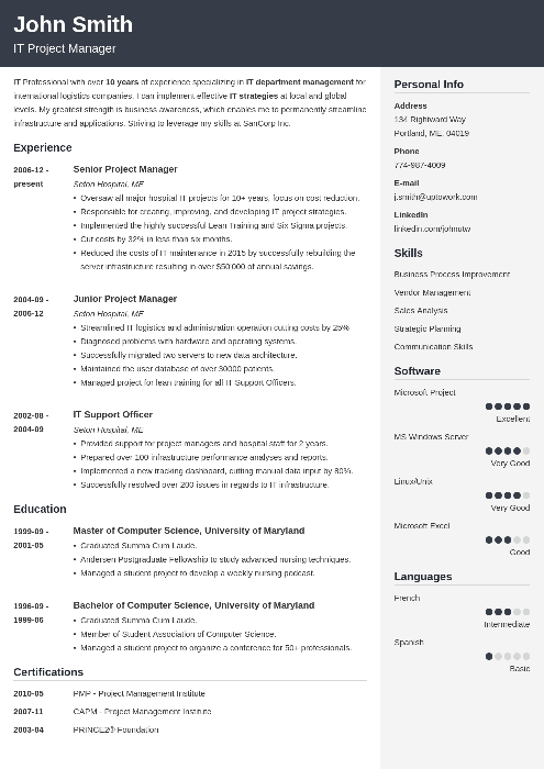 Cv Template Professional Resume Format Best Resume Template Downloadable Resume Template Job Resume Examples