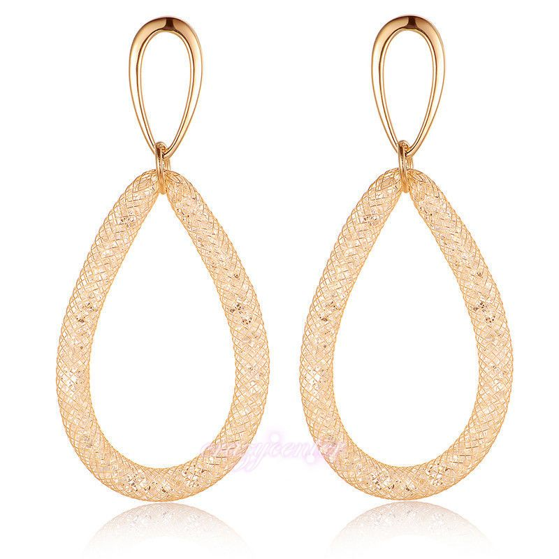 Double Layer Fashion Hoop Earrings For Women Girl|Double Layer Stardust Dangle Earrings Accessory|