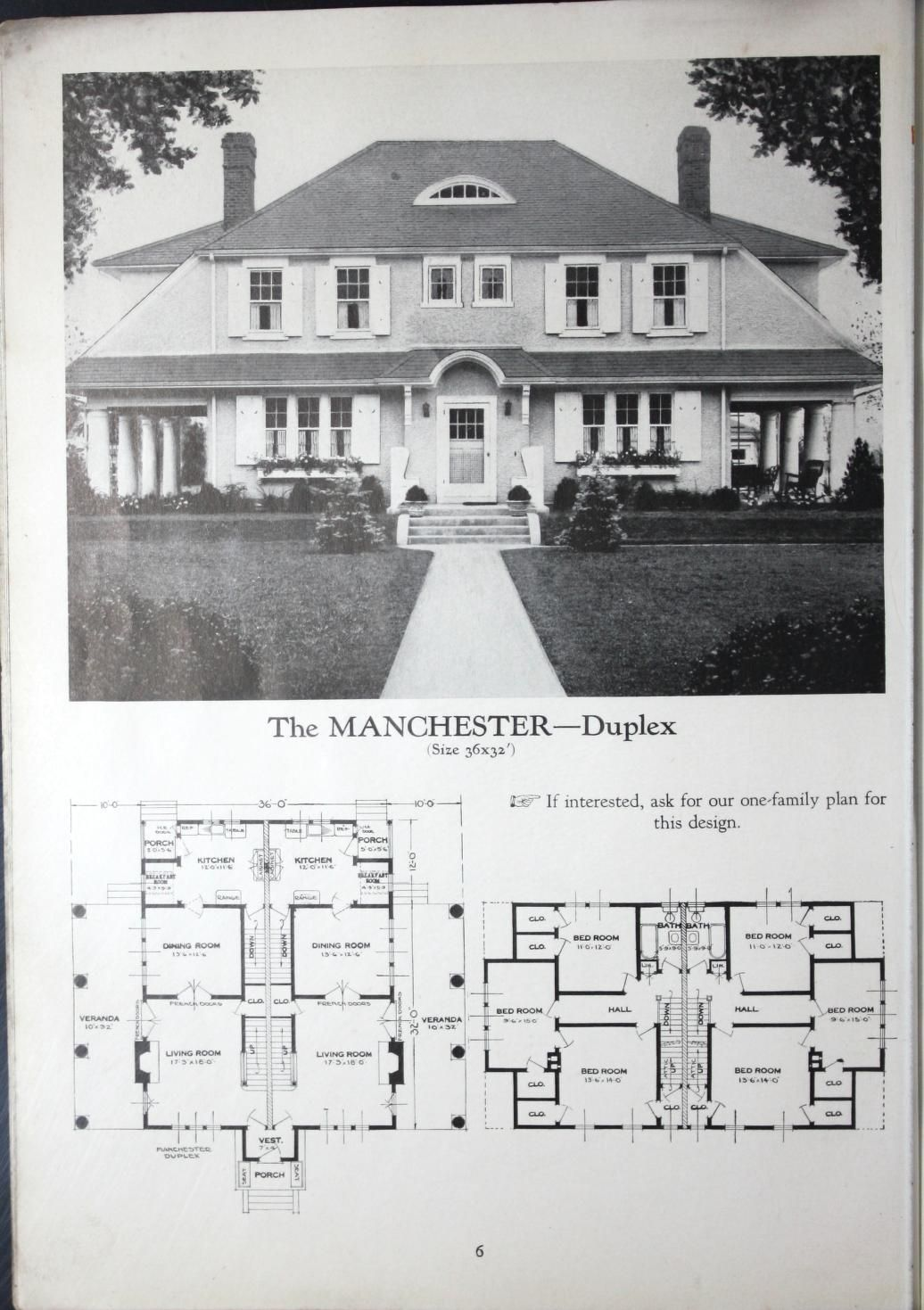 Homes Of Brick And Stucco Standard Homes Company Free Download Borrow And Streaming Multigenerational House Plans Duplex House Plans Vintage House Plans