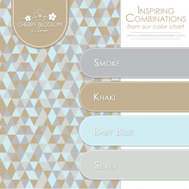 Color Combinations Smoke Grey Khaki Brown Baby Blue Silver
