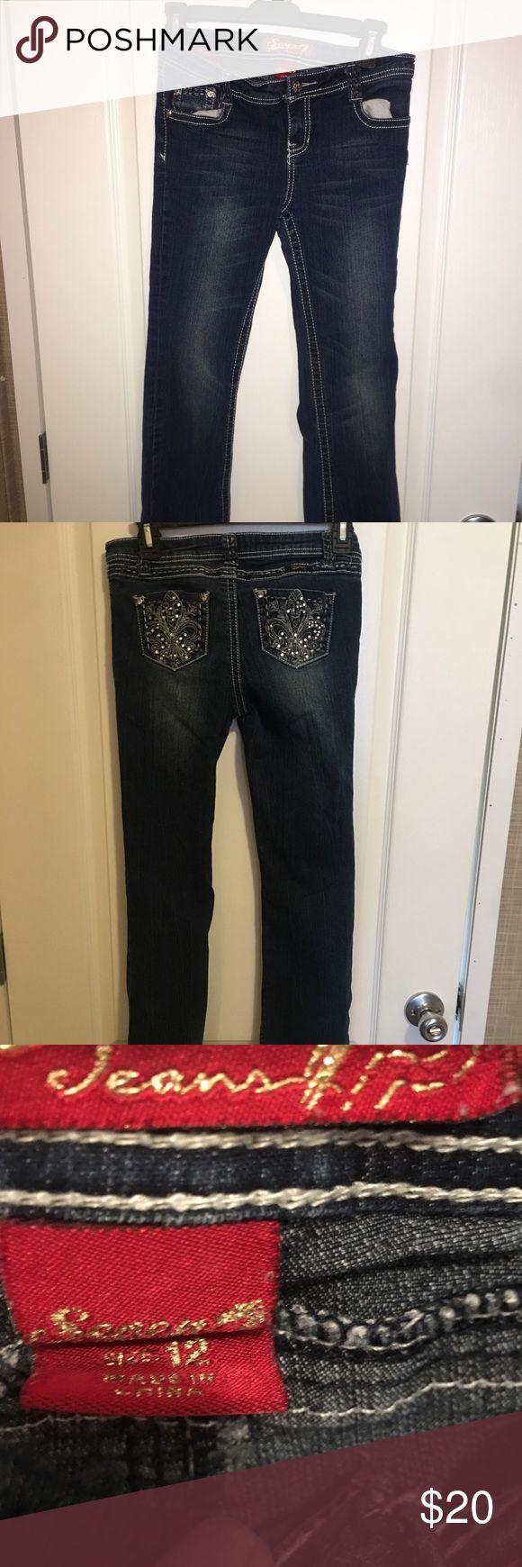 Girls size12 seven jean Seven jeans girls size 12 70 cotton 21polyester 7# rayon#colorful