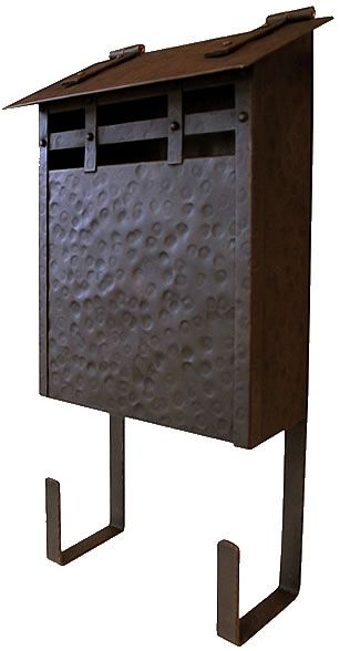 Watergl Studios Hammered Wall Mounted Solid Copper Mailbox Mailbo Seattleluxe