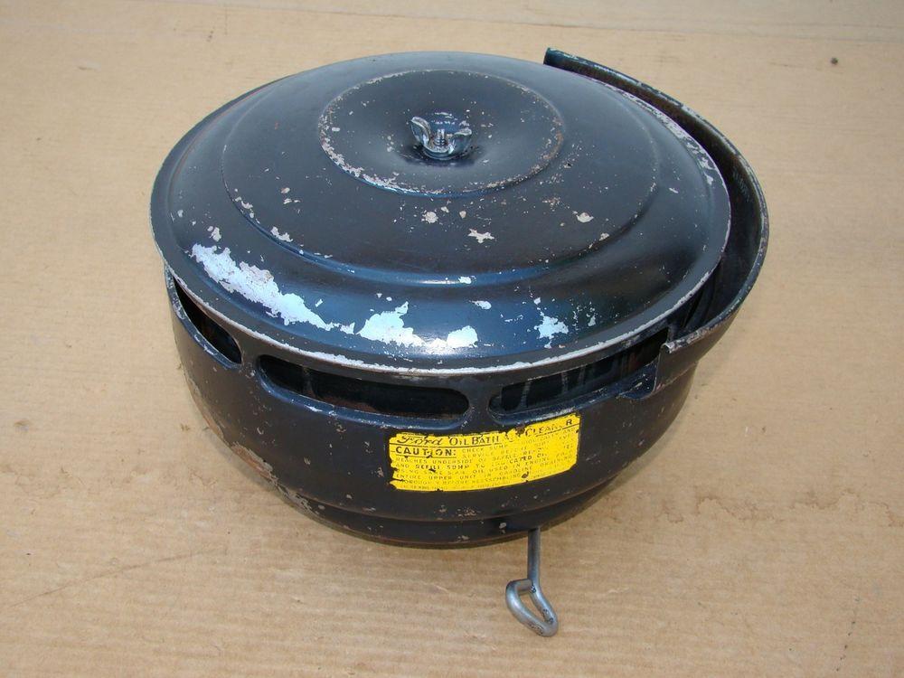 1939 1940 1941 Ford Mercury Oil Bath Original Air Cleaner Filter Oem Nice Air Cleaner Bath Oils The Originals