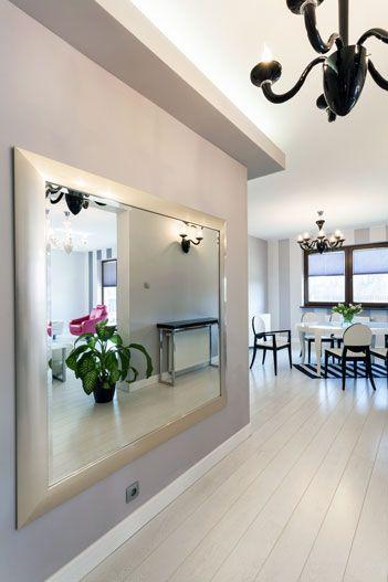 MAL-0474 - Silver Framed Mirror | Large Mirror | Bathroom Mirror ...
