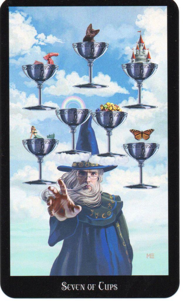 Resultado de imagem para seven of cups tarot