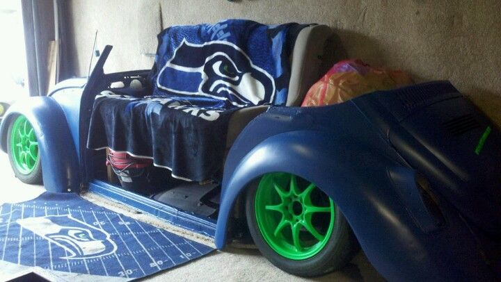 Vw bug couch Seahawks... Still more to do but you get the idea :-)
