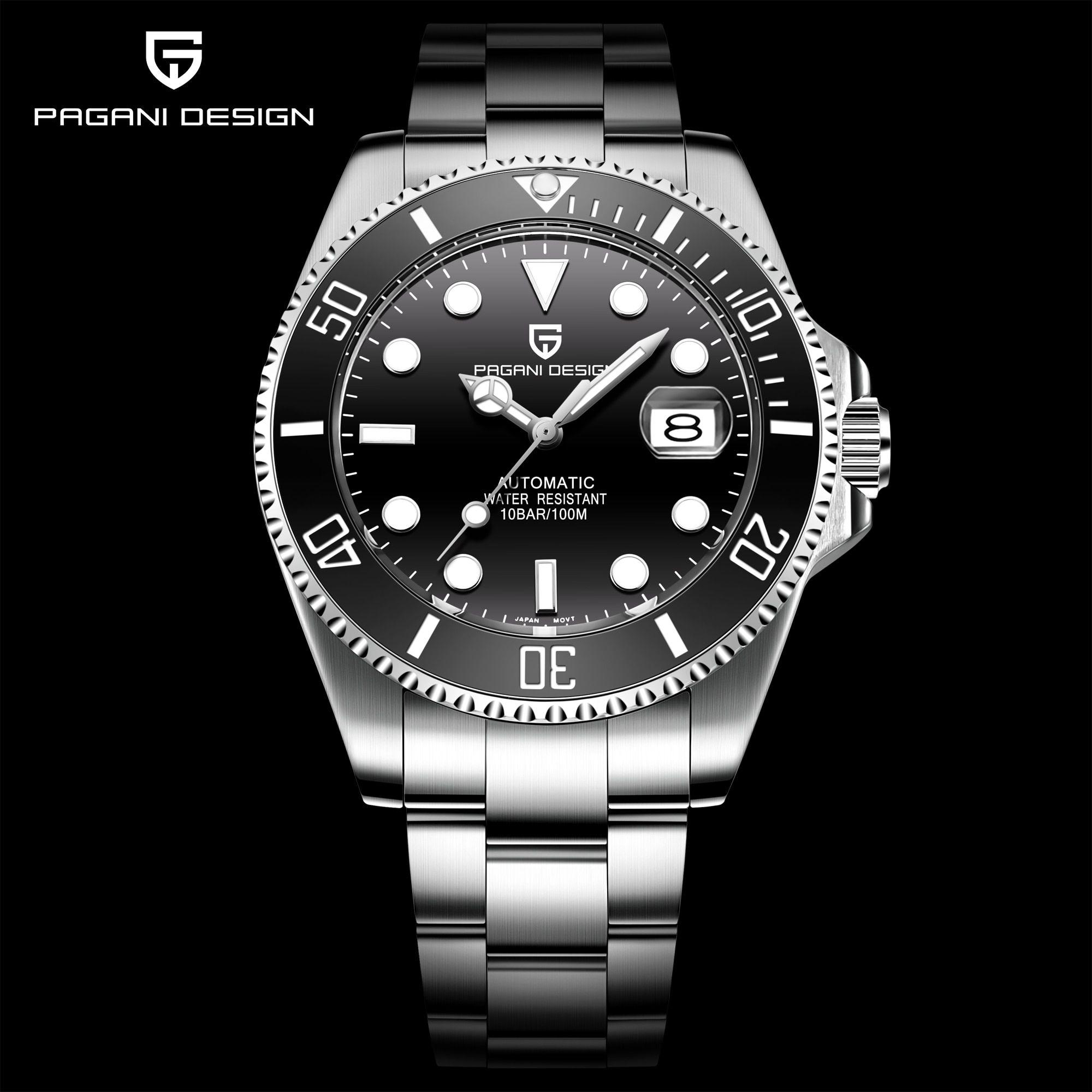 2020 Pagani Design Mechanical Wristwatch Luxury Brand Men Watches Automatic Black Stainless Steel Wa Business Watch Men Watches For Men Business Watch