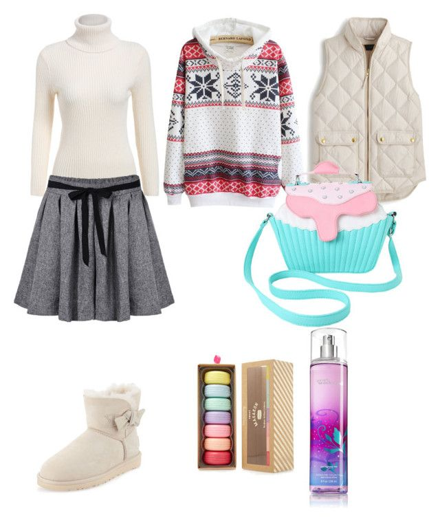 """""""wannabe sweet"""" by sunny1004 ❤ liked on Polyvore featuring UGG Australia, J.Crew, Iron Fist and Forever 21"""