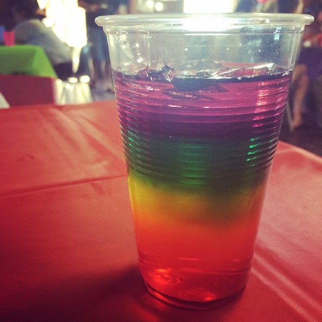 Rainbow Jelly Cups by @becsytaylor  for Abby's first Birthday #thebignumberone #abbysfirstbirthday #omnomnom #jellycups #rainbow #sahgood #sahtasty #sahyummy #INTENTS