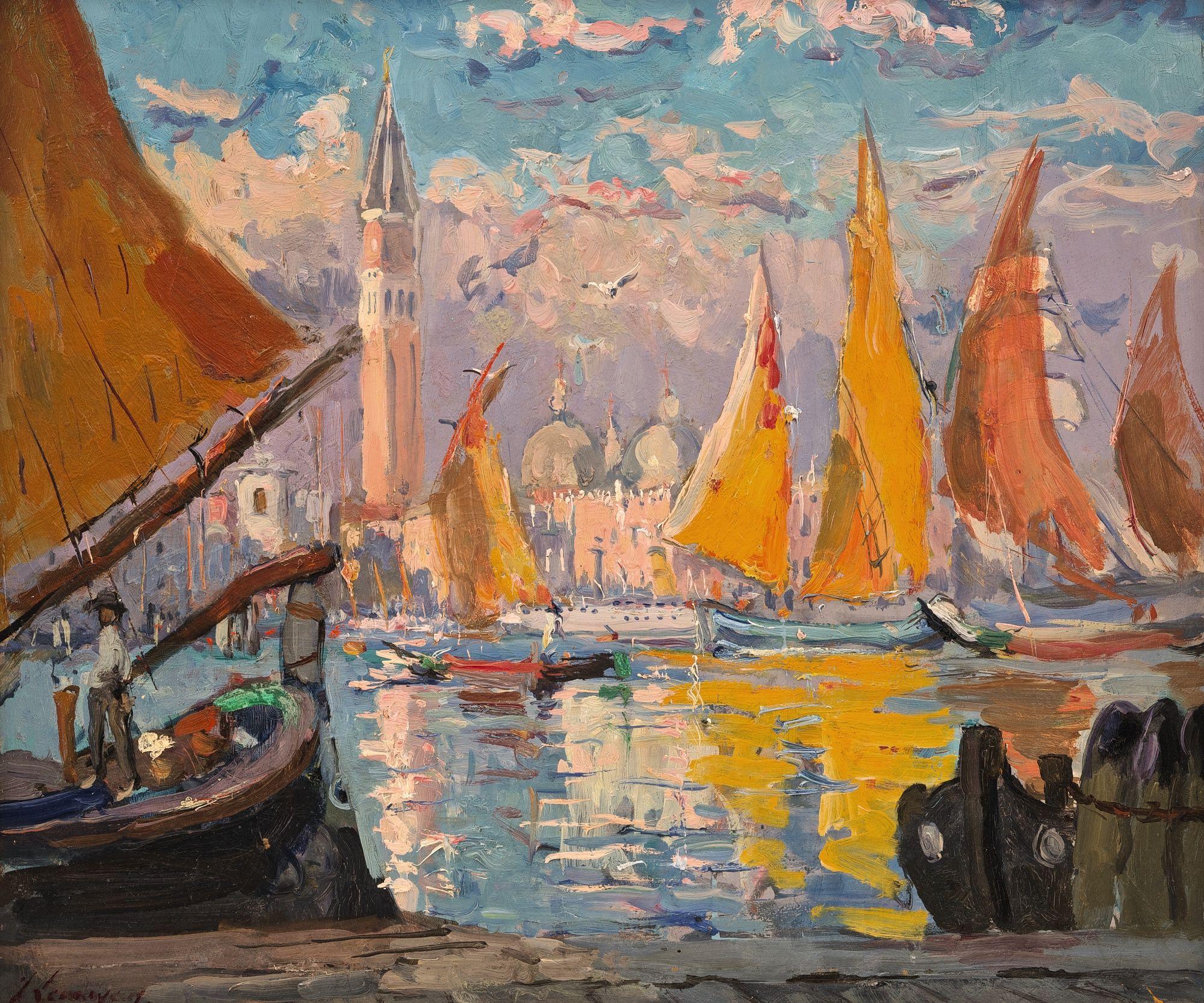 "Adrien-Jean Le Mayeur de Merpres (Belgium 1880-1958) ""View of Venice"""