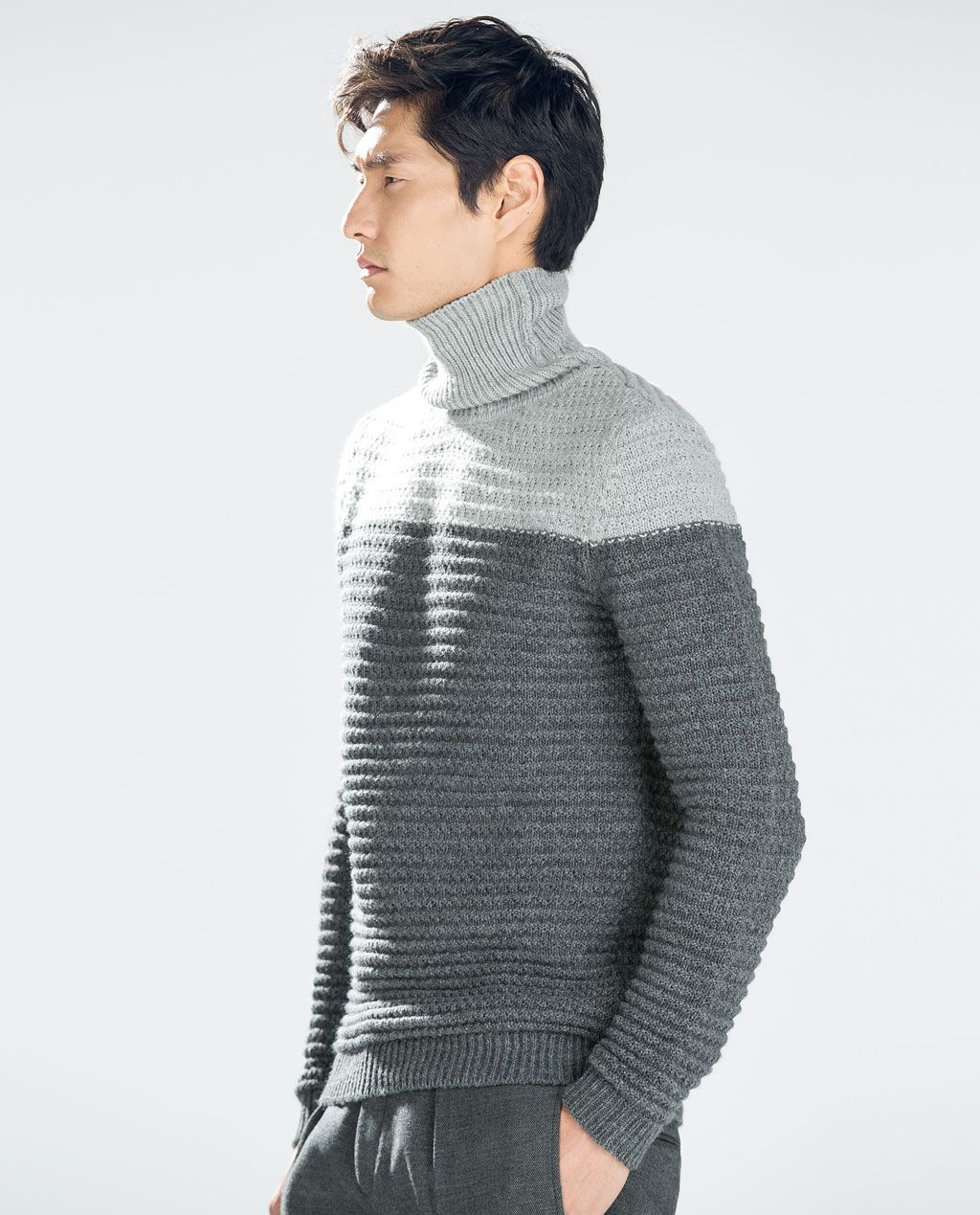 d485c7a8 ZARA - MAN - COLOR BLOCK SWEATER | Fashion Zara | Sweaters, Color ...