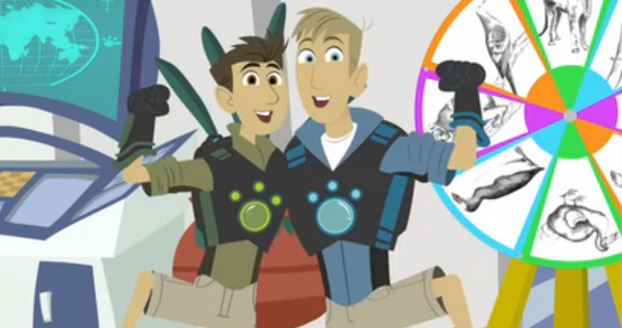 Go Back In Time With The Wild Kratts Crew As They Examine Some Of The Last Known Footage Of The Tasmanian Tiger Wild Kratts Cute Animal Drawings Animals Wild