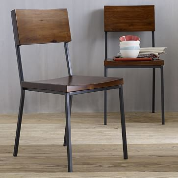 Metal Frame Dining Chairs rustic dining chair | dining chairs, acacia wood and metals