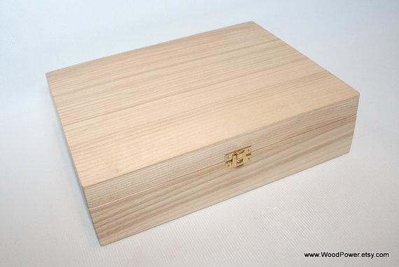 Large Collection Box / 12 Compartments Wooden Box / Ash Wood Box / Keepsake Box / Wooden Jewelry Box / Storage Box