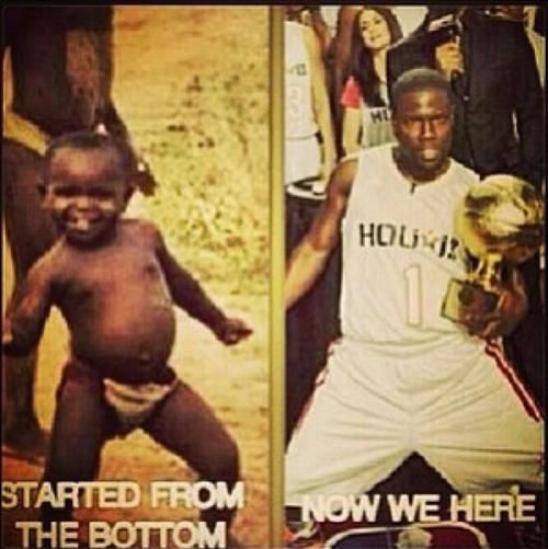 Kevin hart meme started from the bottom