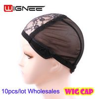 Wholesale Cheap Lace Wig Caps 10pcs Lot Black Rose Frontal Lace