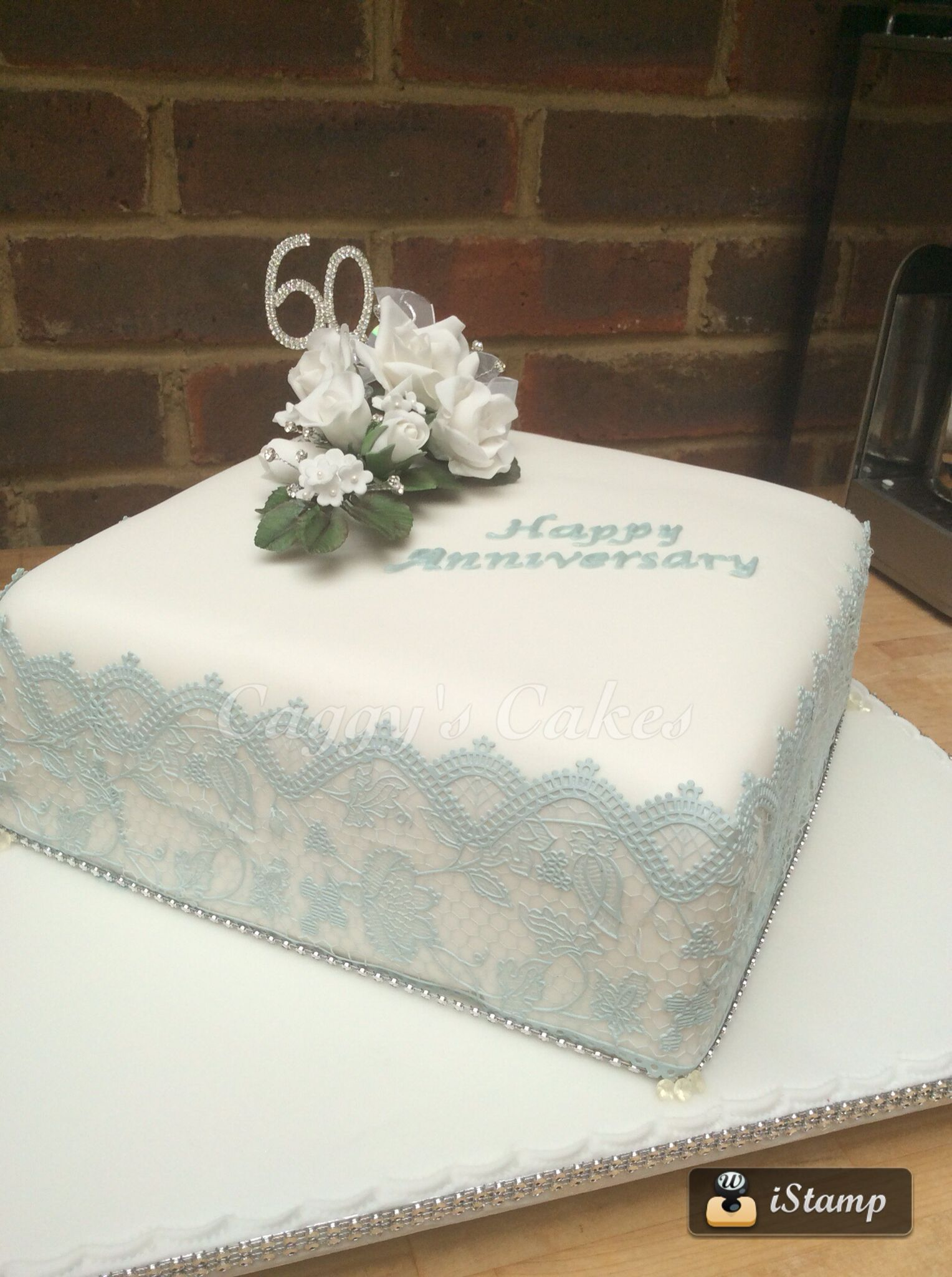 First ever wired sugar flowers I made for 60th wedding anniversary ...