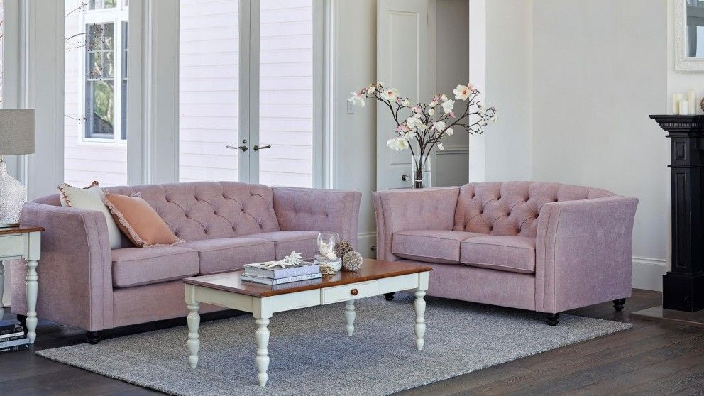 Maggie 3 Seater Fabric Sofa Lounges Harvey Norman Australia