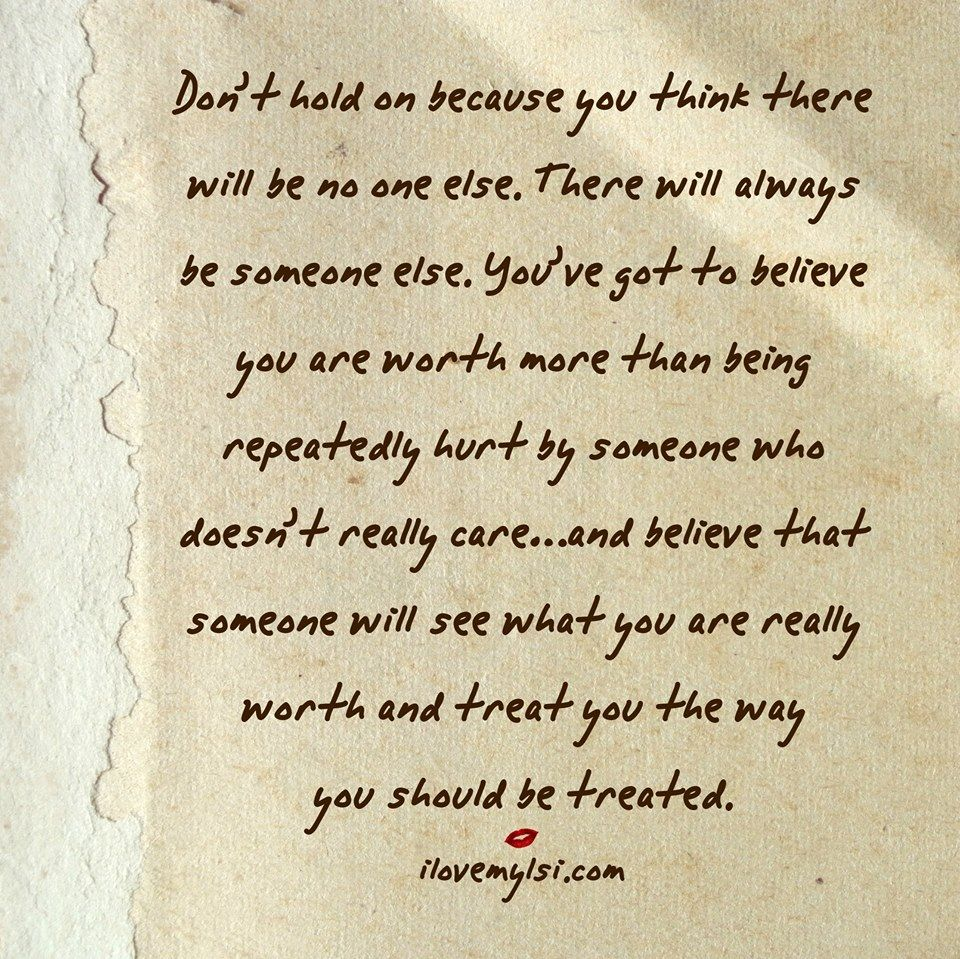 There Will Always be Someone Else