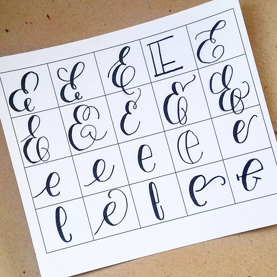 20 ways to write the letter e by letteritwrite see also Learn calligraphy letters