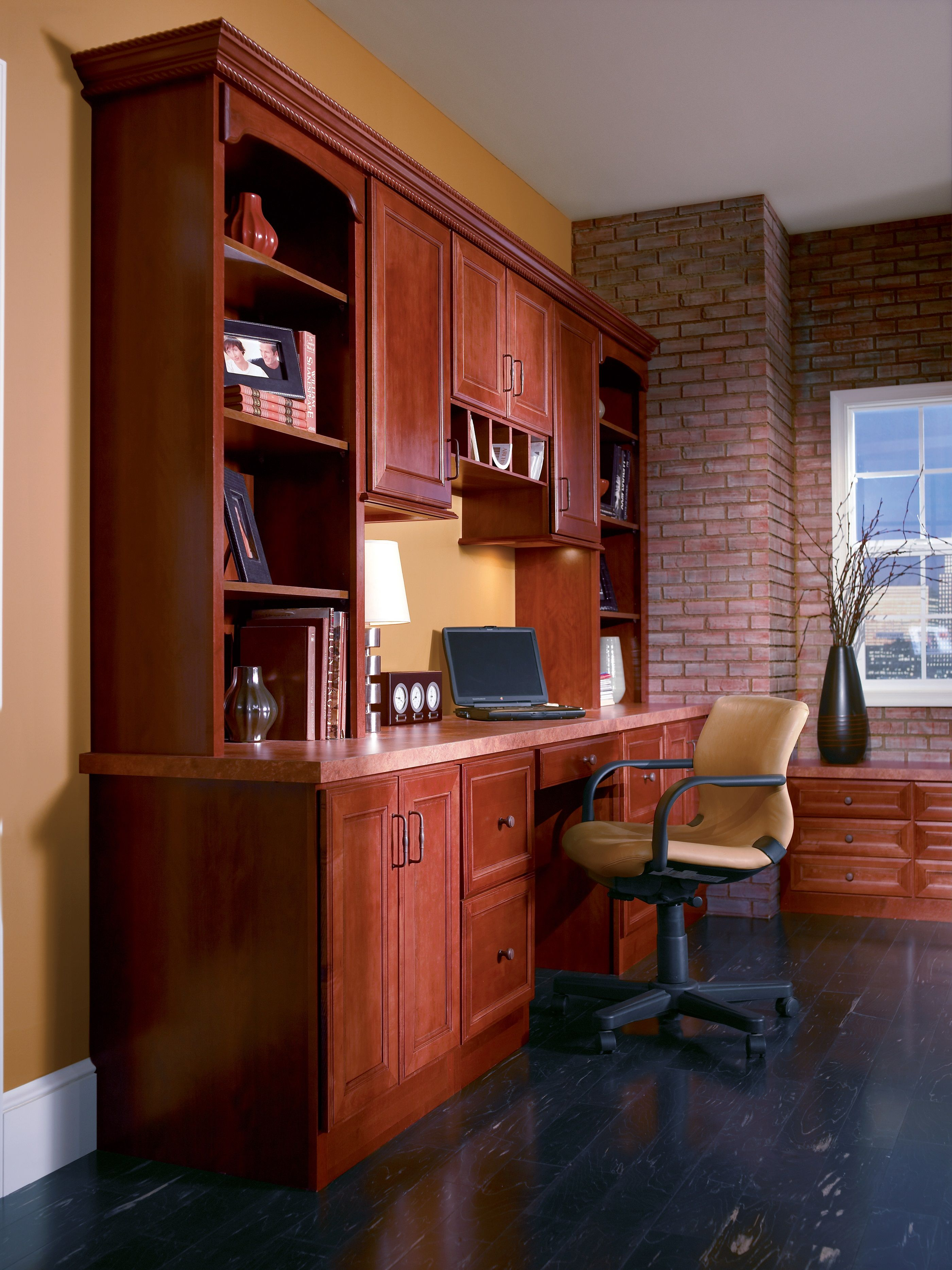 Home office with great storage